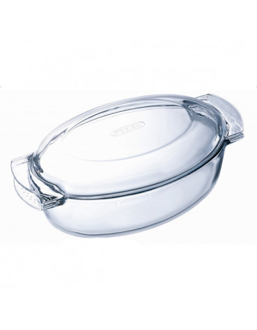 Cocotte ovale 4.5l verre