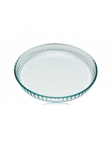 pyrex Moule à tarte 30cm verre pyrex
