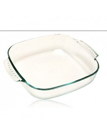 pyrex Plat carré 21cm verre pyrex