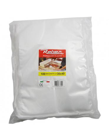 reber Lot de 100 sacs 30x40 pour appareil à emballage sous vide 9701n et 9700n reber