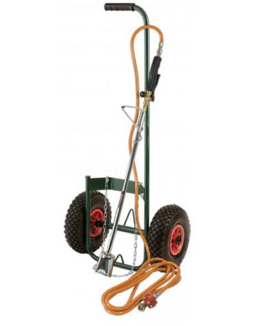 Kit desherbeur thermique avec chariot roues gonflables