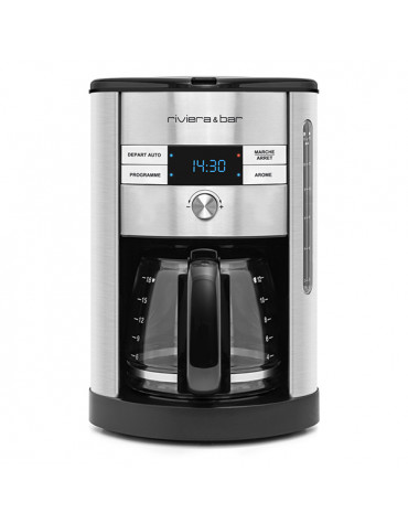 riviera and bar Cafetière programmable 18 tasses 950w inox riviera and bar