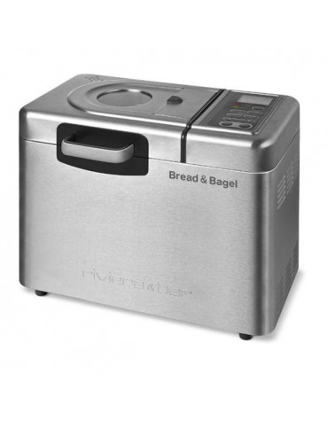 riviera and bar Machine à pain 1250g 1240w inox + accessoire bagel riviera and bar