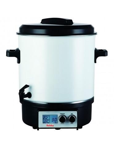 Stérilisateur électrique avec robinet et minuteur 27l 1800w écran lcd