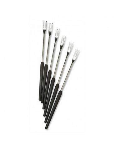 Lot de 12 fourchettes pour fondue noir