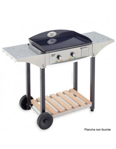 roller grill Desserte inox et bois pour plancha 600 roller grill