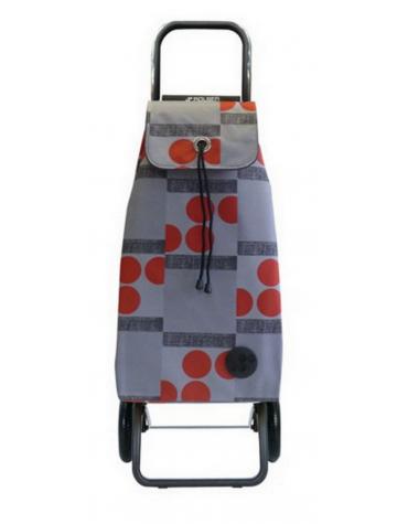 Poussette de marché 2 roues 59l rouge/gris