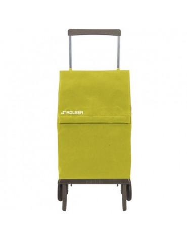 rolser Poussette de marché pliante 2 roues 45l vert rolser