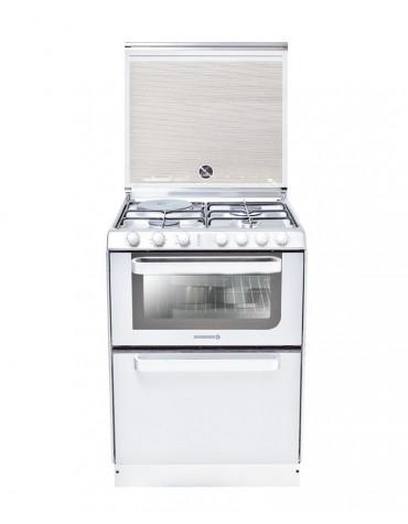 Cuisinière combiné lave-vaisselle 60cm 6c 56db a blanc