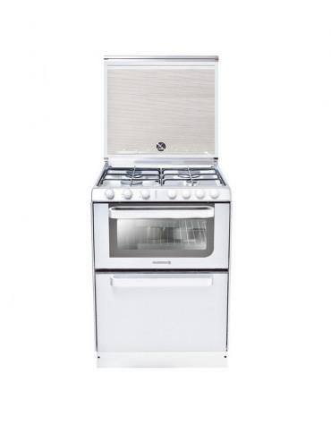 Cuisinière combiné lave-vaisselle blanc