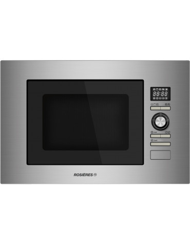rosieres Micro-ondes + gril encastrable 28l 900w inox rosieres