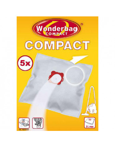 Boite de 5 sacs universel pour aspirateur compact