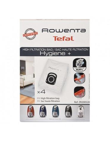 rowenta Lot de 4 sacs haute filtration pour silence force 4a rowenta