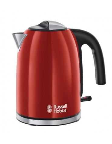 russell hobbs Bouilloire sans fil 1.7l 2400w rouge flamboyant russell hobbs