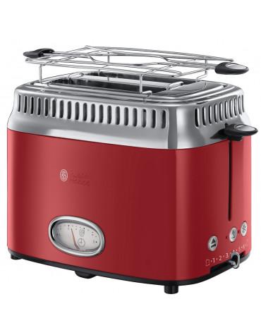 Grille-pains 2 fentes 1300w rouge
