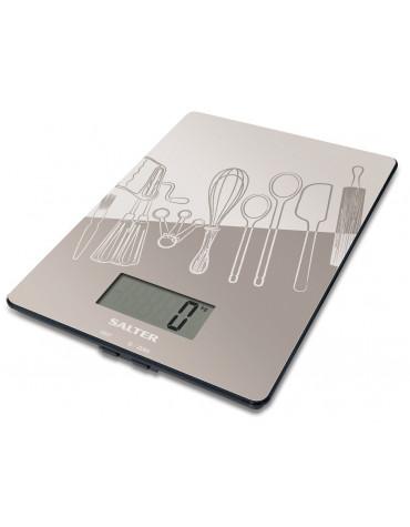 salter Balance de cuisine électronique 5kg - 1g gris salter