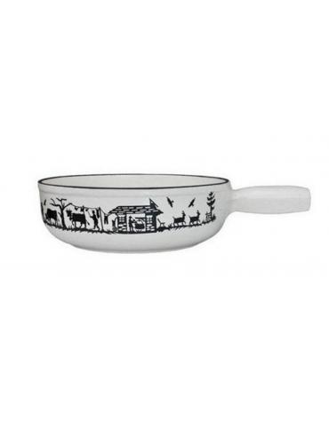 schwarz Caquelon à fondue fonte émaillée 23cm schwarz