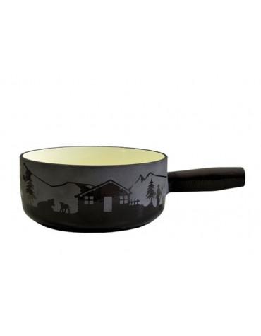 schwarz caquelon à fondue fonte émaillée 24 cm 26740012