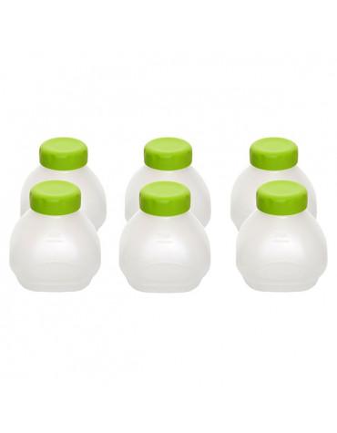 Lot de 6 petites bouteilles pour yaourtière delices et multi delices