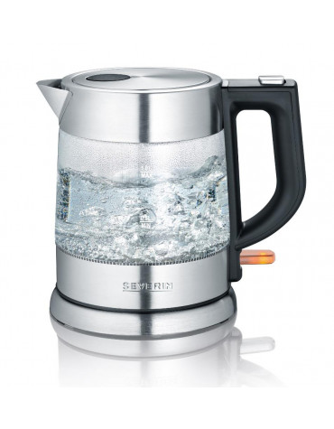 Bouilloire sans fil 1l 2200w verre/inox