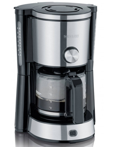 severin Cafetière filtre 10 tasses 1000w inox/noir severin