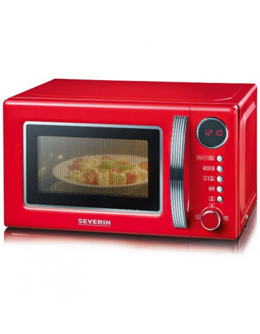 severin Micro-ondes grill 20l 700w rouge/silver severin
