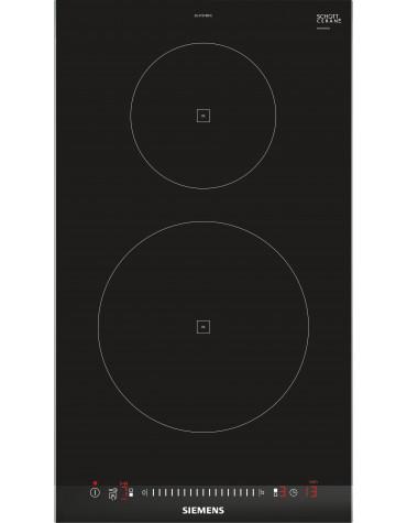 siemens Domino induction 30cm 2 feux 3700w noir siemens