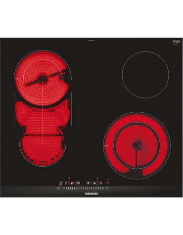 siemens Plaque de cuisson vitrocéramique 60cm 4 feux 7800w noir siemens