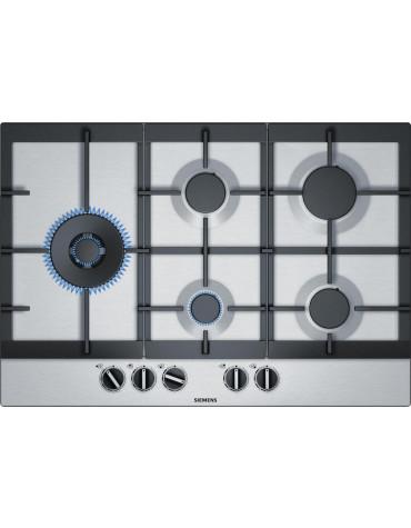 siemens Table de cuisson à gaz 75cm 5 feux inox siemens