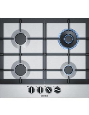 siemens Table de cuisson à gaz 90cm 4 feux inox siemens