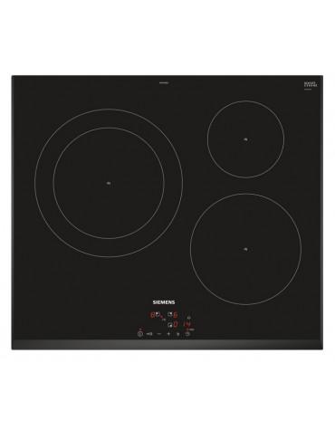 siemens Table de cuisson à induction 60cm 3 feux 7400w noir siemens