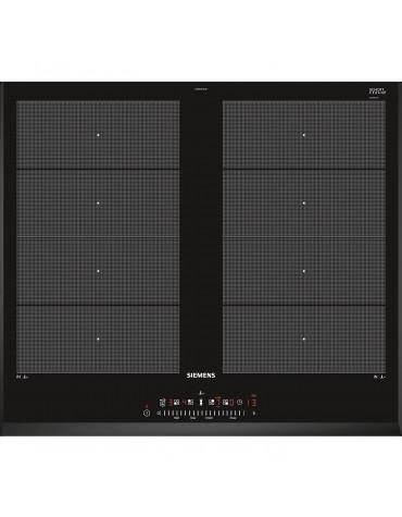 siemens Table de cuisson à induction 60cm 4 feux 7400w noir siemens