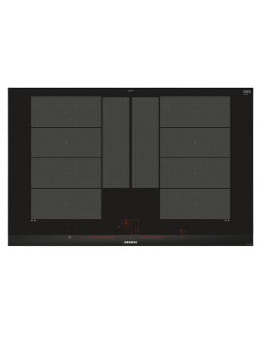 siemens Table de cuisson à induction 80cm 4 feux 7400w flexinduction noir siemens