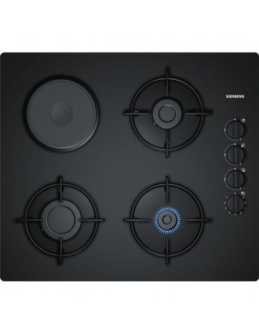SIEMENS - Table de cuisson verre mixte gaz 60cm noir - iq100 - eo6b6yb10 351b1364c20c
