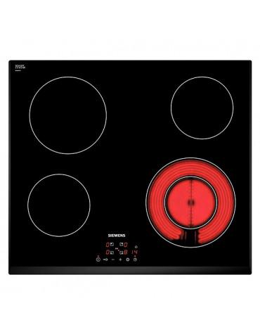 siemens Table de cuisson vitrocéramique 60cm 4 feux 6600w noir siemens