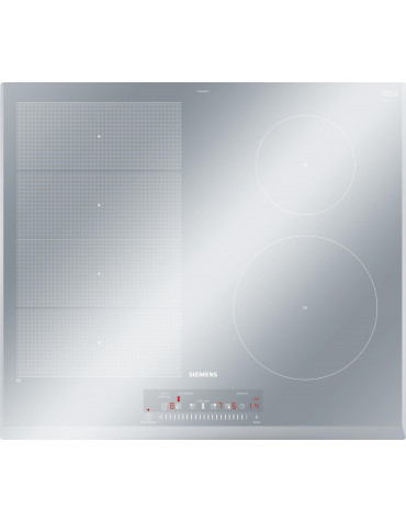 siemens Table de cuisson vitrocéramique 60cm 4 feux 7400w noir siemens