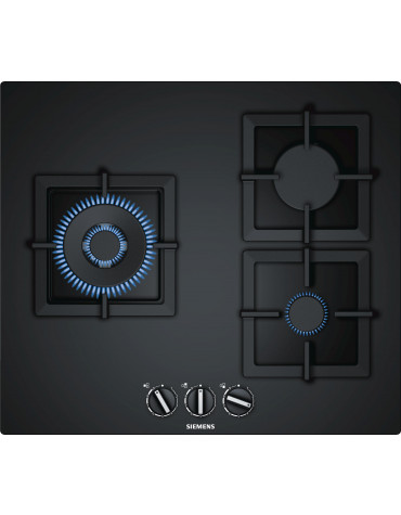 siemens Table verre gaz 60cm noir fleur de plan siemens