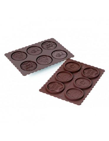silikomart Moule à biscuits rond noël silikomart