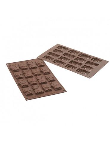 silikomart Moule à chocolat silicone 16 safari silikomart
