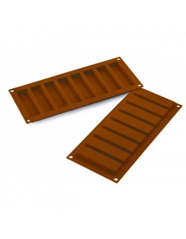 silikomart Moule à chocolat silicone 8 barres silikomart
