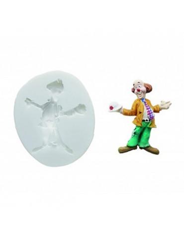 silikomart Moule clown pour pâte à sucre silikomart