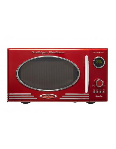 simeo Micro-ondes 25l 800w rouge simeo