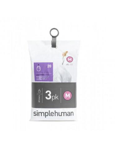 3 packs de 20 sacs poubelle de 45l