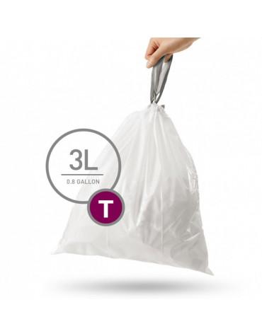 Lot de 40 sacs poubelles de 3l