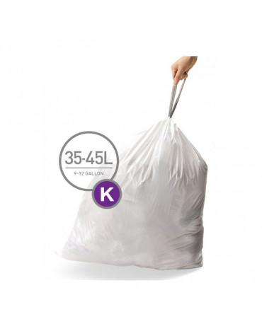 Pack de 3 lots de 20 sacs poubelles 45l