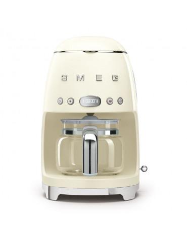 Cafetière filtre programmable 10 tasses 1050w crème