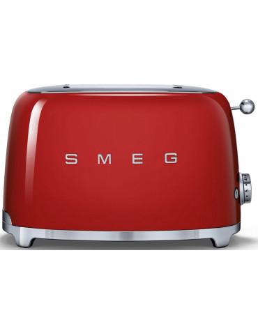 smeg Grille-pain 2 fentes 950w rouge smeg