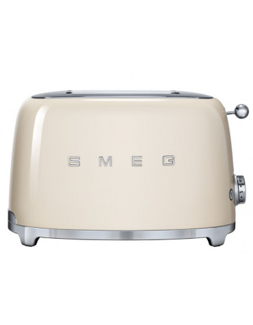 smeg Grille-pains 2 fentes 950w crème smeg
