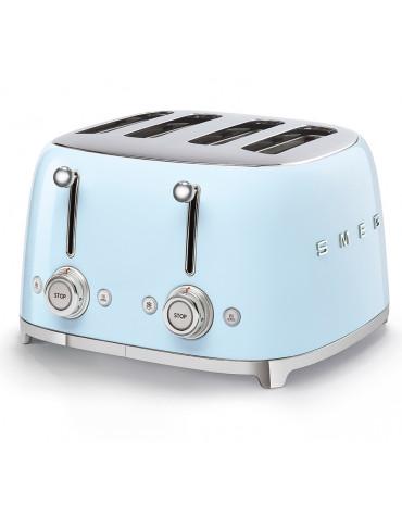 smeg Grille-pains 4 fentes 950w bleu azur smeg