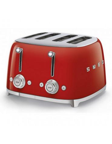 smeg Grille-pains 4 fentes 950w rouge smeg